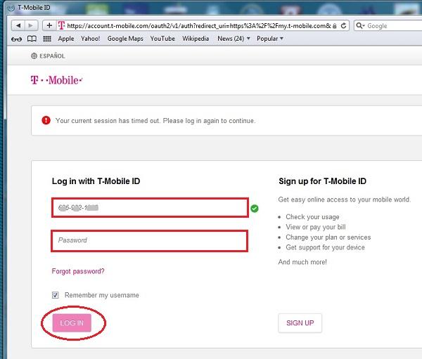事前にアクティベートされたT-Mobile US Prepaid SIMの使用開始の手順